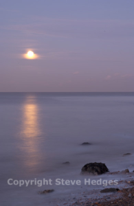 Moonlit Coast Photography from Steve Hedges in Kent