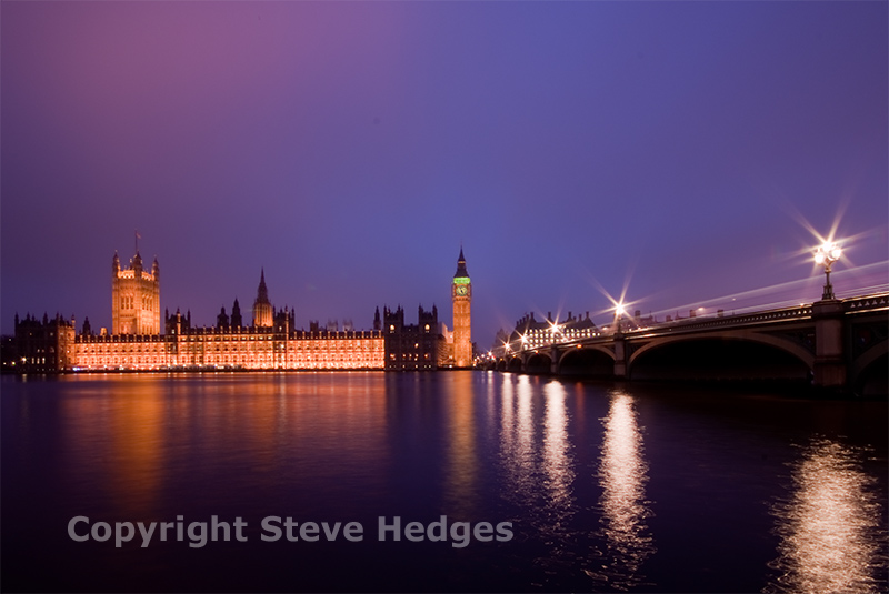 London Parliament Night