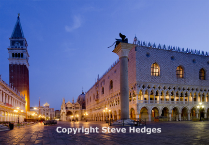 St Marks Square in Venice by Steve Hedges