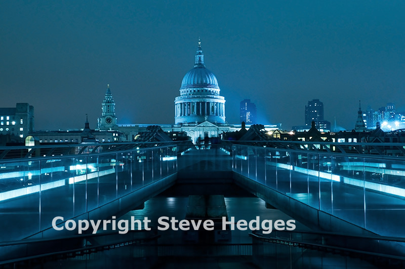St Paul's Cathedral at night in London