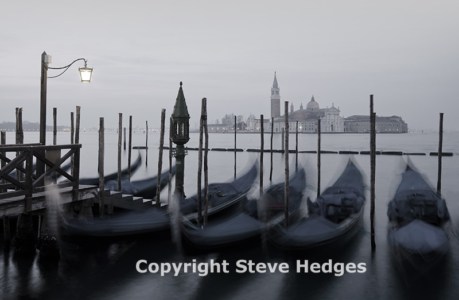 Venice Gondalas by Steve Hedges